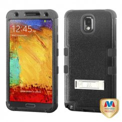 Samsung Galaxy Note 3 Natural Black/Black Hybrid Case with Stand