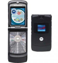 Motorola RAZR V3 Flip Phone for AT&T Wireless - Black