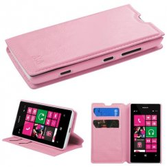 Nokia Lumia 521 Pink Wallet with Tray