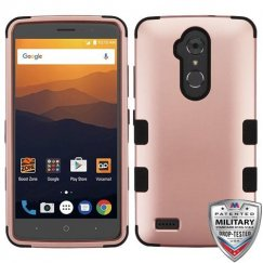 ZTE Blade Max 3 / Max XL Rose Gold/Black Hybrid Case Military Grade
