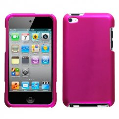 Apple iPod Touch (4th Generation) Titanium Solid Hot Pink Case