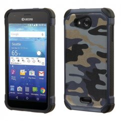 Kyocera Wave / Hydro Air Camouflage Navy Blue Backing/Black Astronoot Case