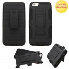 Apple iPhone 6/6s Plus Black/Black Advanced Armor Stand Case with Black Holster
