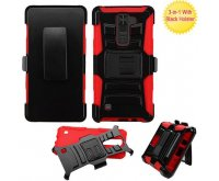 Black/Red Advanced Armor Stand Protector Cover (with Black Holster)