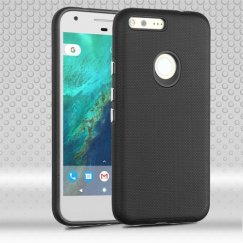 Google Pixel Black Dots Textured/Black Fusion Case