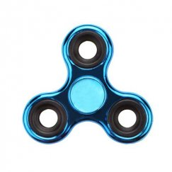 Blue Plating Triangle Spinner