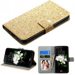 LG K7 Gold Diamante Wallet