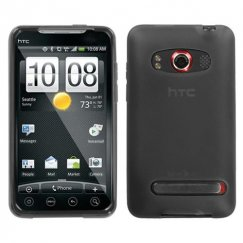HTC EVO 4G Semi Transparent Smoke Candy Skin Cover - Rubberized