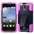 Alcatel One Touch Pop Star Hot Pink Inverse Advanced Armor Stand Protector Cover