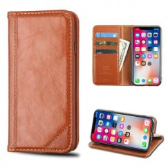 Apple iPhone X Brown Genuine Leather Wallet
