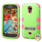 Samsung Galaxy Light Natural Pearl Green/Electric Pink Hybrid Case with Stand