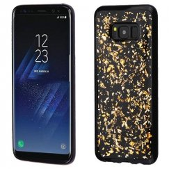 Samsung Galaxy S8 Plus Gold Flakes (Black) Krystal Gel Series Candy Skin Cover