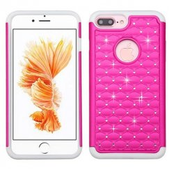 Apple iPhone 7 Plus Hot Pink/Solid White FullStar Case