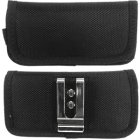 Apple iPhone 5 Horizontal Rugged Nylon Pouch with Velcro Closure and Metal Clip