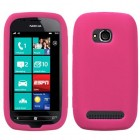 Nokia Lumia 710 Solid Skin Cover - Hot Pink