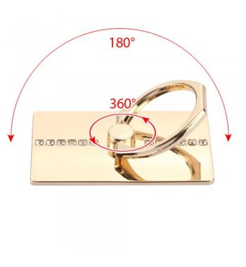 Gold Row Diamond Adhesive Ring Stand