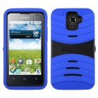 Huawei Premia 4G Black/Blue Wave Symbiosis Case with Horizontal Stand