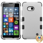 Nokia Lumia 640 Rubberized Gray/Black Hybrid Case