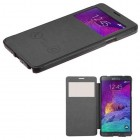 Samsung Galaxy Note 4 Black Silk Texture (with Transparent Frosted Tray)