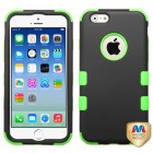 Apple iPhone 6/6s Rubberized Black/Electric Green Hybrid Case