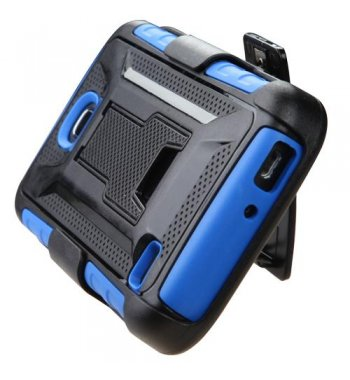 Huawei Union Y538 Black/Dark Blue Advanced Armor Stand Case with Black Holster