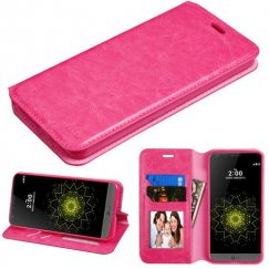 LG G6 Hot Pink Wallet with Tray