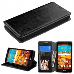 LG LS751 Volt 2 Black Wallet with Tray