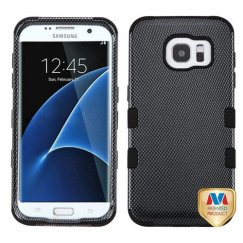 Samsung Galaxy S7 Edge Carbon Fiber/Black Hybrid Case