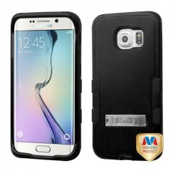 Samsung Galaxy S6 Edge Natural Black/Black Hybrid Case with Stand