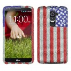 LG G2 United States National Flag Diamante Case