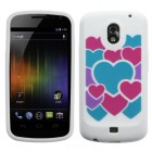 Samsung Galaxy Nexus Colorful Love/White Pastel Skin Cover