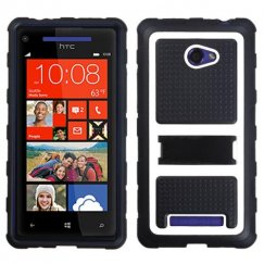 HTC Windows Phone 8x White Gummy Armor Stand