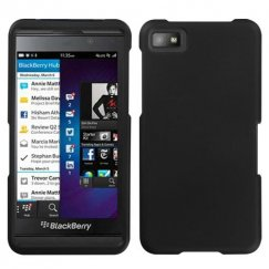 Blackberry Z10 Black Case - Rubberized