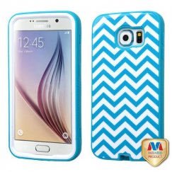Samsung Galaxy S6 Blue Wave/Tropical Teal Hybrid Case