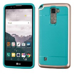 LG LG G Stylo 2 Plus Rose Gold Frame/Tropical Teal Astronoot Case