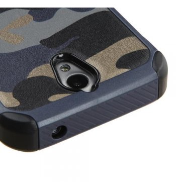 ZTE Obsidian Camouflage Navy Blue Backing/Black Astronoot Phone Protector Cover