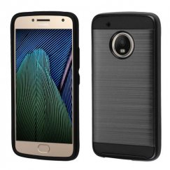 Motorola Moto G5 Plus Black/Black Brushed Hybrid Case