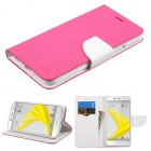 HTC Bolt Hot Pink Pattern/White Liner wallet with Card Slot