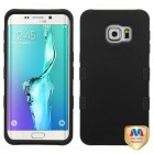 Samsung Galaxy S6 Edge Plus Rubberized Black/Black Hybrid Case