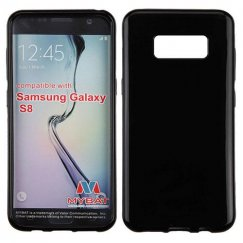 Samsung Galaxy S8 Glossy Jet Black Candy Skin Cover
