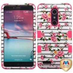 ZTE Grand X Max 2 Pink Fresh Roses/Electric Pink Hybrid Case