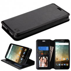 ZTE Prestige 2 Black Wallet with Tray