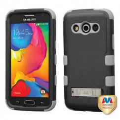 Samsung Galaxy Avant Natural Black/Iron Gray Hybrid Case with Stand