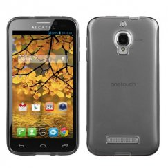Alcatel One Touch Fierce Semi Transparent Smoke Candy Skin Cover - Rubberized