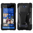HTC Windows Phone 8s Black Inverse Advanced Armor Stand Protector Cover
