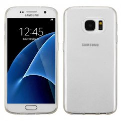 Samsung Galaxy S7 Semi Transparent White Candy Skin Cover - Rubberized