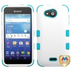 Kyocera Wave / Hydro Air Natural Ivory White/Tropical Teal Hybrid Case