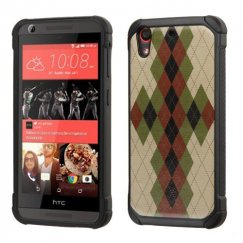 HTC Desire 555 Vintage Argyle Backing/Black Astronoot Case