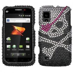 ZTE Warp N860 Skull Diamante Case
