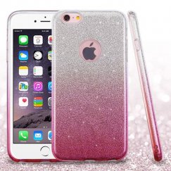 Apple iPhone 6 Plus Pink Gradient Glitter Hybrid Case